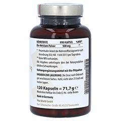 HERICIUM BIOPULVER 500 mg Kapseln 120 Stück - Linke Seite