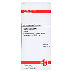 HAPLOPAPPUS D 3 Tabletten 200 Stück N2 - Vorderseite