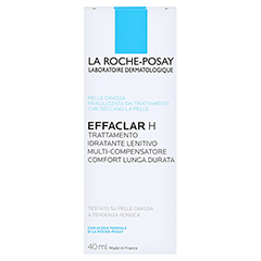 La Roche-Posay Effaclar H Feuchtigkeitspflege bei austrocknender, medikamentöser Behandlung + gratis Effaclar Reinigungsgel 50 ml 40 Milliliter - Rückseite