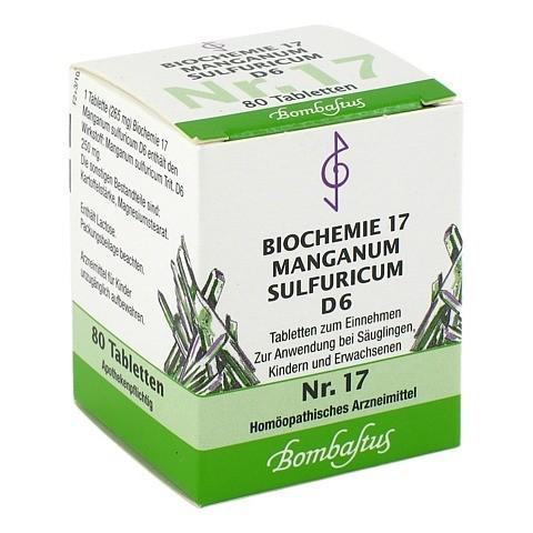 BIOCHEMIE 17 Manganum sulfuricum D 6 Tabletten 80 Stück N1