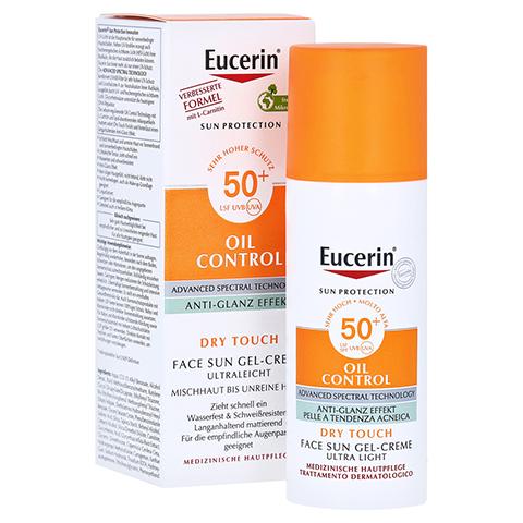 EUCERIN Sun Gel-Creme Oil Contr.Anti-Gl.Eff.LSF50+ 50 Milliliter