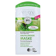 LAVERA hautklärende Maske Minze 4sprachig 2x5 Milliliter
