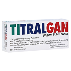 TITRALGAN gegen Schmerzen 20 Stück N2