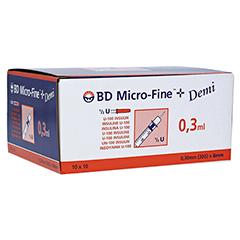 BD Micro-fine + Insulinspritze 0,3 ml U100 100 Stück