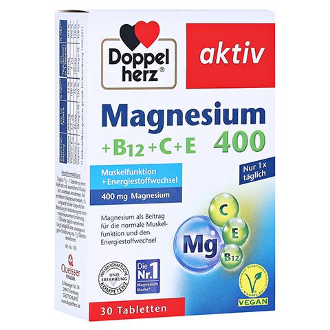 DOPPELHERZ Magnesium 400+B12+C+E Tabletten 30 Stück