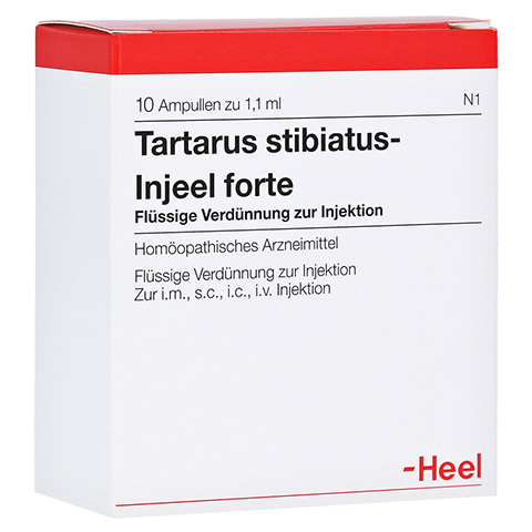 TARTARUS STIBIATUS INJEEL forte Ampullen 10 Stück N1