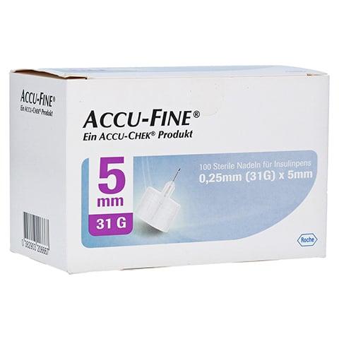 ACCU FINE sterile Nadeln f.Insulinpens 5 mm 31 G 100 Stück
