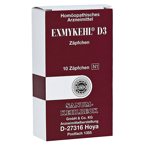 EXMYKEHL D 3 Suppositorien 10 Stück N1