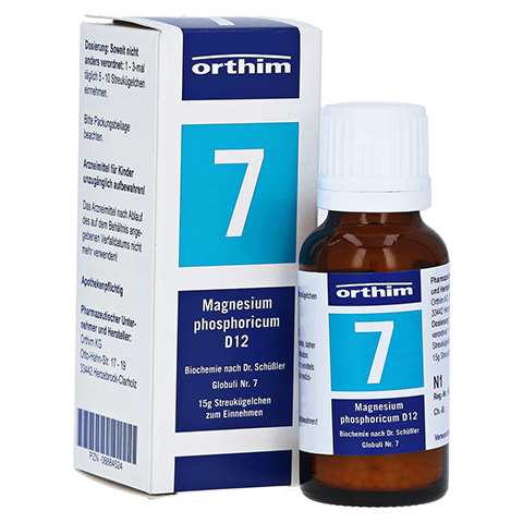 BIOCHEMIE Globuli 7 Magnesium phosphoric.D 12 15 Gramm N1