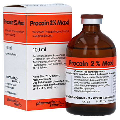PROCAIN RÖWO 2% Maxi Injektionsflaschen 100 Milliliter N3