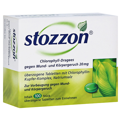 Stozzon Chlorophyll-Dragees gegen Mund- und Körpergeruch 100 Stück