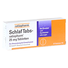 SchlafTabs-ratiopharm 25mg 20 Stück N2
