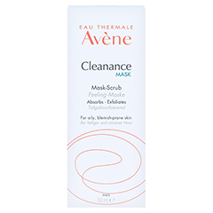 AVENE Cleanance MASK Peeling Maske 50 Milliliter - Vorderseite