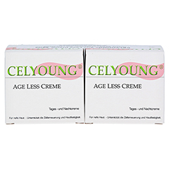CELYOUNG age less Creme plus eine Gratis 2x50 Milliliter - Vorderseite