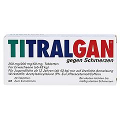 TITRALGAN gegen Schmerzen 20 Stück N2 - Vorderseite