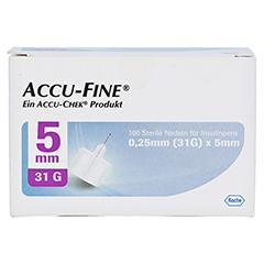 ACCU FINE sterile Nadeln f.Insulinpens 5 mm 31 G 100 Stück - Vorderseite