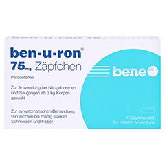 Ben-u-ron 75mg 10 Stück N1 - Vorderseite