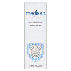 MEDISAN Plus Antitranspirant Roll-on 50 Milliliter - Vorderseite
