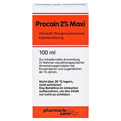 PROCAIN RÖWO 2% Maxi Injektionsflaschen 100 Milliliter N3 - Vorderseite