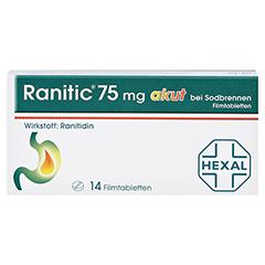 Ranitic 75mg akut bei Sodbrennen 14 Stück - Vorderseite