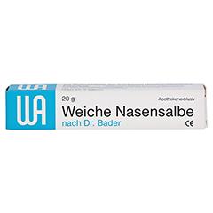 Weiche Nasensalbe nach Dr. Bader 20 Gramm - Vorderseite