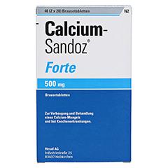 Calcium-Sandoz Forte 500mg 2x20 Stück N2 - Vorderseite
