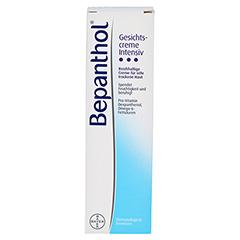 Bepanthol Gesichtscreme Intensiv 50 Milliliter - Vorderseite