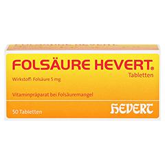 Folsäure-Hevert 50 Stück N2 - Vorderseite