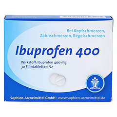 Ibuprofen 400 Sophien 30 Stück N2 - Vorderseite
