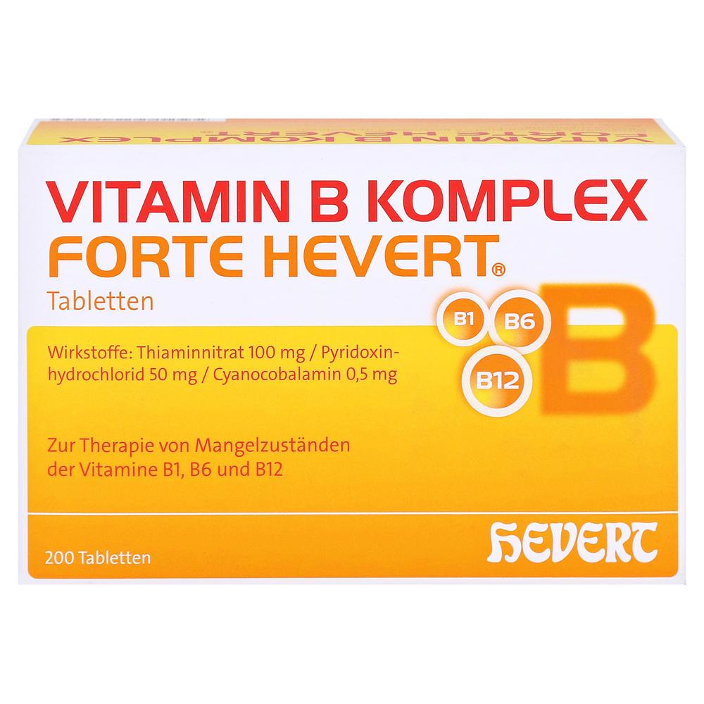 erfahrungen zu vitamin b komplex forte hevert tabletten 200 st ck medpex versandapotheke. Black Bedroom Furniture Sets. Home Design Ideas