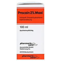 PROCAIN RÖWO 2% Maxi Injektionsflaschen 100 Milliliter N3 - Linke Seite