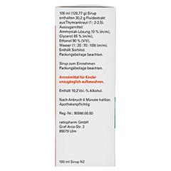 THYMIAN-ratiopharm Hustensaft 100 Milliliter N2 - Linke Seite