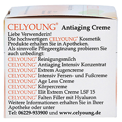 CELYOUNG Antiaging Creme 50 Milliliter - Linke Seite