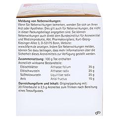 H&S Reizhustentee Filterbeutel 20x2.5 Gramm - Linke Seite