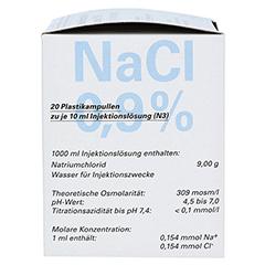 ISOTONE NaCl Lösung 0,9% BC Plast.Amp.Inj.-Lsg. 20x10 Milliliter N3 - Rechte Seite