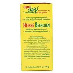 Apoday Heiße Beerchen + Vitamin C + Zink + Magnesium Pulver 10x10 Gramm - Rechte Seite