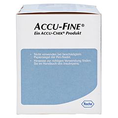 ACCU FINE sterile Nadeln f.Insulinpens 5 mm 31 G 100 Stück - Rechte Seite