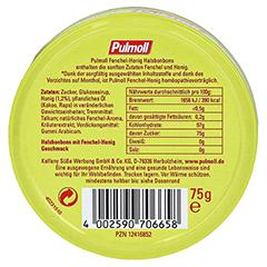 PULMOLL Fenchel-Honig Bonbons 75 Gramm - Rückseite