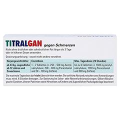 TITRALGAN gegen Schmerzen 20 Stück N2 - Rückseite
