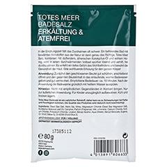 DERMASEL Totes Meer Badesalz Erkältung & Atemfrei 80 Gramm - Rückseite