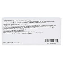 COCHLEA GL D 6 Ampullen 10x1 Milliliter N1 - Rückseite