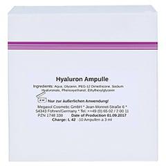 HYALURON Ampullen 10x3 Milliliter - Rückseite