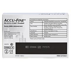 ACCU FINE sterile Nadeln f.Insulinpens 5 mm 31 G 100 Stück - Rückseite