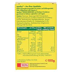 Apoday Heiße Beerchen + Vitamin C + Zink + Magnesium Pulver 10x10 Gramm - Rückseite
