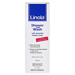 Linola Dusch und Wasch 100 Milliliter - Rückseite
