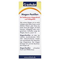 Zirkulin Magen-Pastillen 40 Stück - Rückseite
