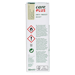 CARE PLUS Anti-Insect Deet Spray 50% 60 Milliliter - Rückseite