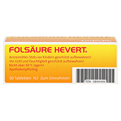 Folsäure-Hevert 50 Stück N2 - Rückseite
