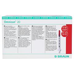 OMNICAN Insulinspr.0,5 ml U40 m.Kan.0,30x8 mm ein. 100x1 Stück - Rückseite