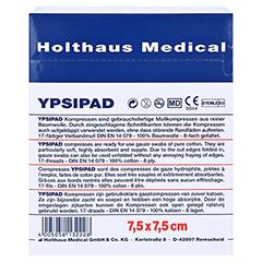 MULLKOMPRESSEN Ypsipad 7,5x7,5 cm steril 8fach 25x2 Stück - Rückseite